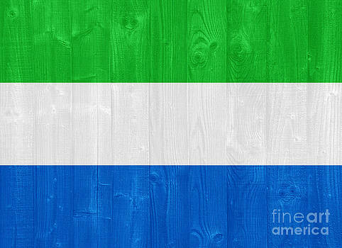 Sierra Leone flag by Luis Alvarenga