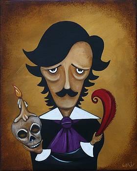 Silence A Poe Caricature by Charlene Murray Zatloukal