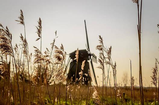 Silhouette of a windmill by Yvon van der Wijk
