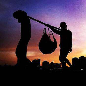 Silhouette Of Worker #silhouette by Dani Daniar