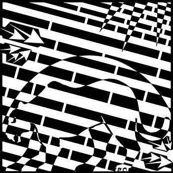 Silhouette Panther Moon Maze  by Yonatan Frimer Maze Artist