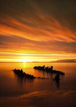 Silhouette sunset by Arnar B Gudjonsson