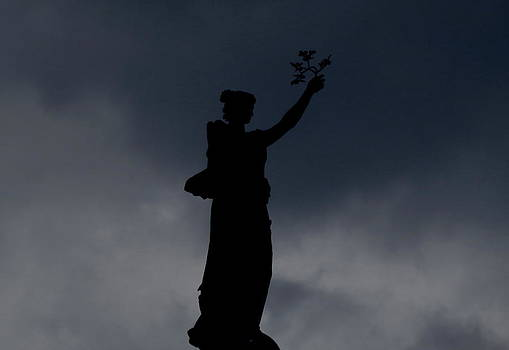 Silhouetted Statue by Stephen Melcher