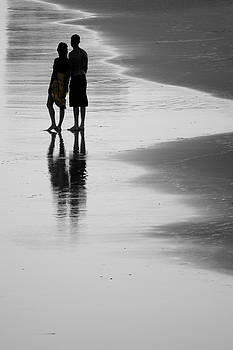 Silhouettes on the Beach  by Jeffrey Cohen