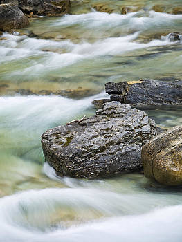 Silk and stone Johnston Canyon by Richard Berry