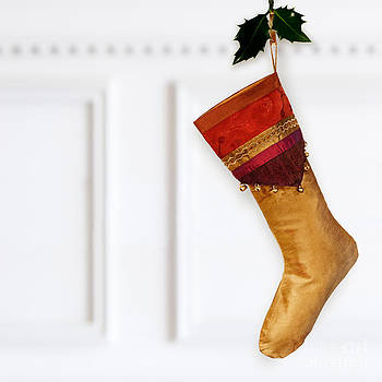 Jo Ann Snover - Silk Christmas stocking