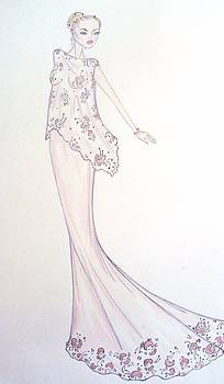 Silken Rose Gown by Christine Corretti