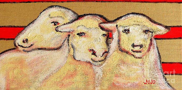 Silly Sheep Art by Jodie  Scheller