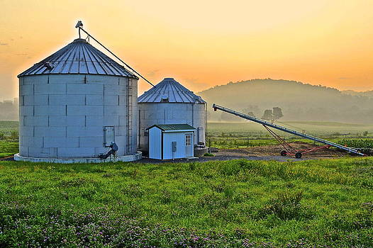 Frozen in Time Fine Art Photography - Silos at Sunrise