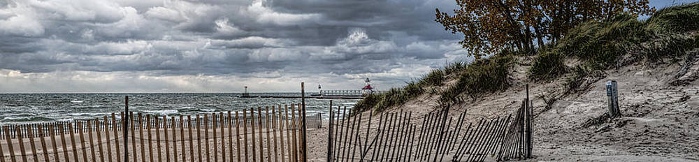 Silver Beach Pano by John Crothers