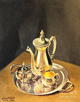 Art By Tolpo Collection - Silver Coffee Set