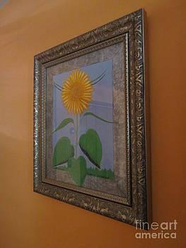 Silver Framed Sunflower by Sandra Spincola