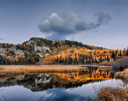 Silver Lake Fall Morning by Kayta Kobayashi