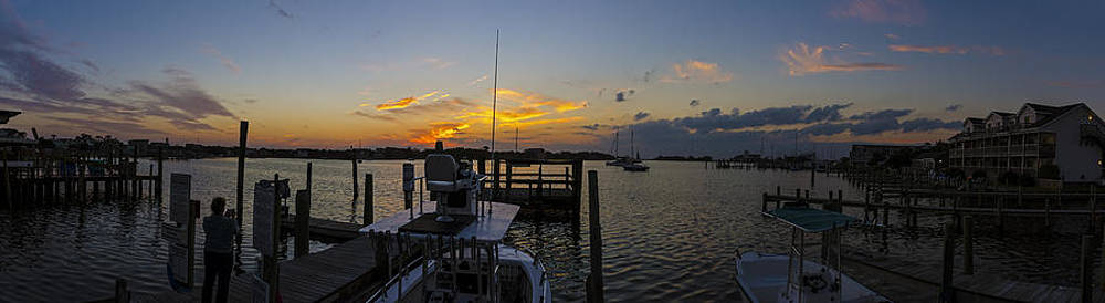 Silver Lake Sunset Panorama by Greg Reed