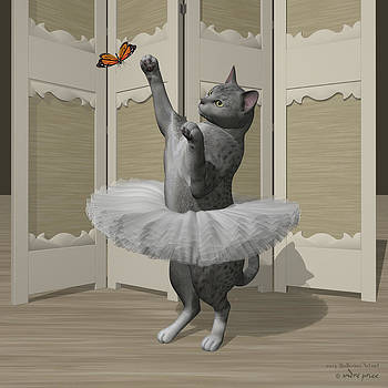 Silver Mau Ballet Cat on Paw-te by Alfred Price