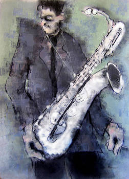 Silver Saxophone by Peter Cameron