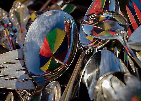 Silver Umbrellas by Joie Cameron-Brown