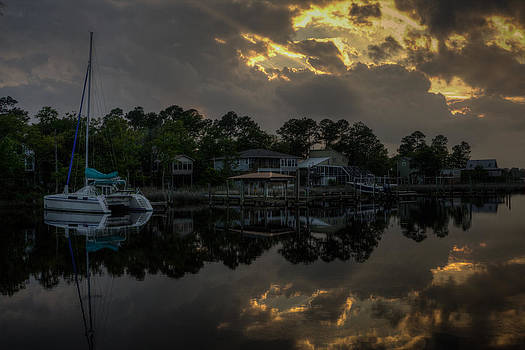 Simmons Bayou Sunset by Ron  Maxie