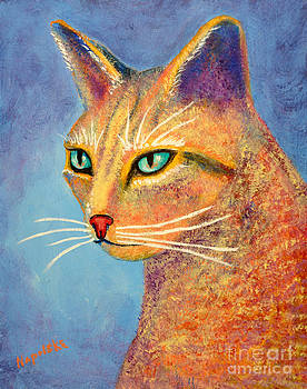 Simon Abstract Cat by Barney Napolske