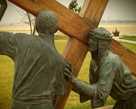 Simon Helps Jesus Carry His Cross by EdCindy Croal