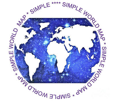 Algirdas Lukas - Simple world map 04