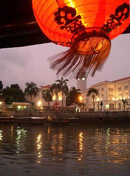 Singapore boat Quay by Jack Edson Adams