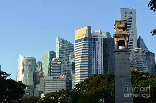 Singapore Skyline  by Greg Cross