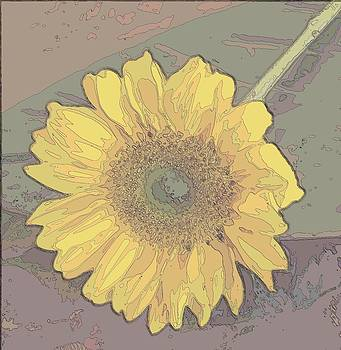 Single Sunflower Surreal by Annette Allman