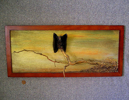 Single Vulture at Dusk by Roger Swezey