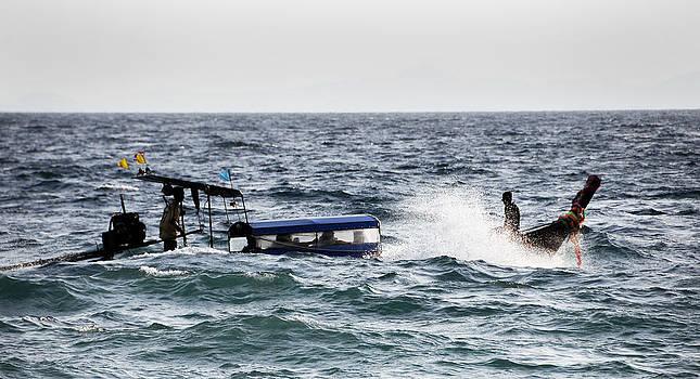 Sinking Boat by Money Sharma