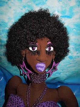 Siren Mermaid Purple Glory by Cassandra George Sturges