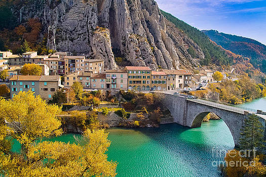 Sisteron on the Banks of the La Durance France by Kimberly Blom-Roemer