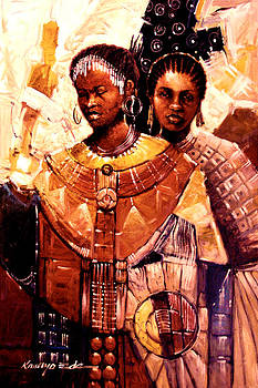 Kanayo Ede - Sisters - Adorned ceremonial African sisters
