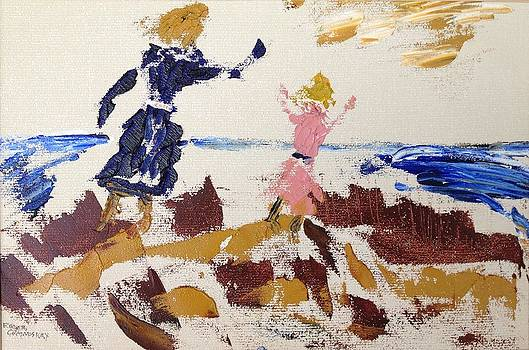 Roger Cummiskey - Sisters in the sand dunes