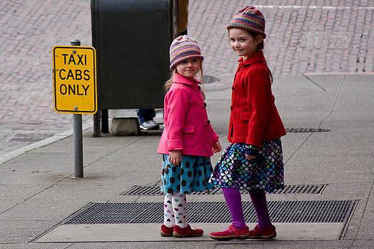 Sisters Posing by Steve Raley
