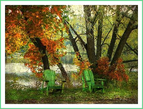 Sit A While by Dianne  Lacourciere