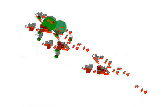 Site Plan in Orange and Green by Y-axis lab