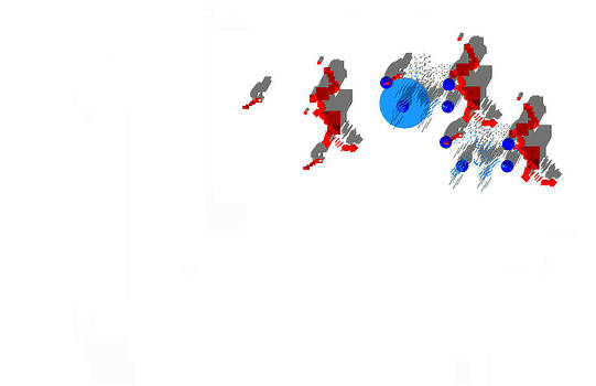 Site Plan in Red and Blue by Y-axis lab