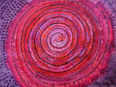 Sits in the Middle and Knows original painting by Sol Luckman