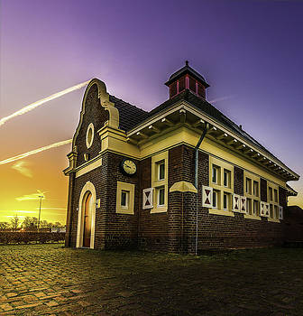 Sittard Water Pumping Station Monument At Sunrise by Libor Bednarik