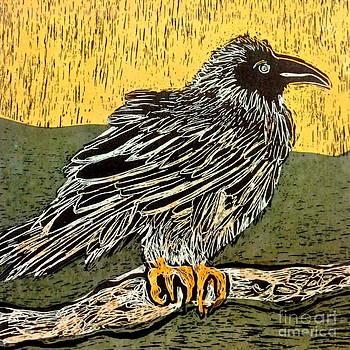 Sitting Crow by Jennifer Reitmeyer