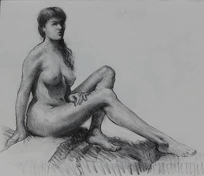 Sitting figure by Ernest Principato