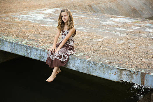 Sitting on the Bridge by Barbie Baio