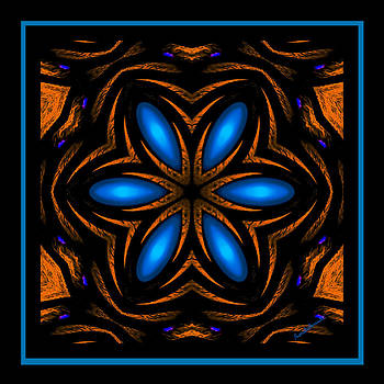 Marcela Bennett - Six Petals Blue Star Flower