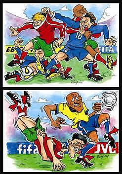 Vitaliy Shcherbak - Sixth page of comics about Eurofootball