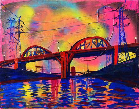 Sixth Street Bridge at Dusk by Sean Boyce
