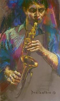 Sizzling Sax by Ellen Dreibelbis