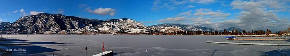 Guy Hoffman - Skaha Lake FROZEN NorthEastEnd Panorama 02-06-2014