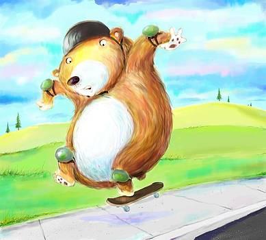Scott Nelson - Skateboarding Bear