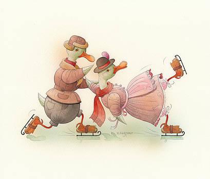 Kestutis Kasparavicius - Skating Ducks 4